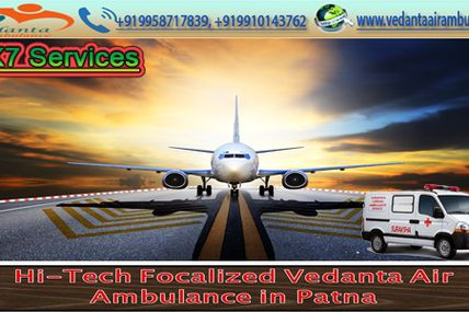 Vedanta Air Ambulance Service in Kharagpur with Best Medical Team