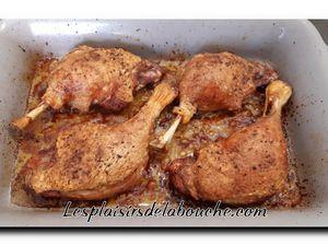 Cuisse de canard au four sauce au poivre