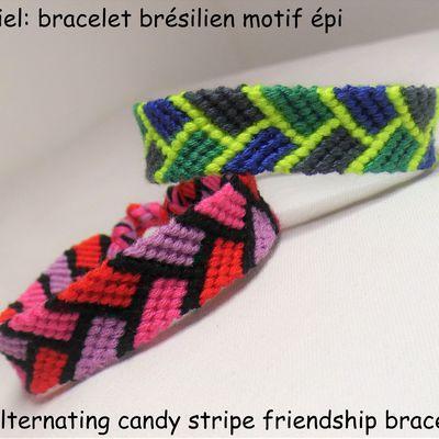 Tutoriel et patron: bracelet brésilien motif épi