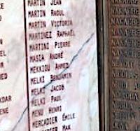 """""""MARTINI Pierre"""" sur une plaque du monument de Constantine."""