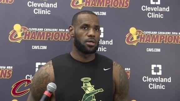 """LeBron James : """" Nous jouons contre un adversaire digne d'estime et nous sommes impatients de relever le défi """""""