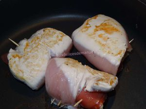 Escalopes de poulet farcies au Merzer et noix de jambon -LIGHT-