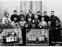 Photos de classe à Les Voivres en 1957