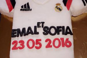 GATEAU MAILLOT DE FOOT REAL DE MADRID