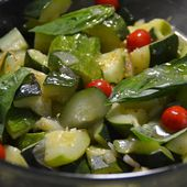 Salade courgettes chèvre basilic cookeo |