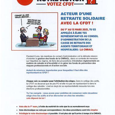CFDT: vous avez jusqu'au 15 mars pour voter et faire voter CFDT aux élections CNRACL!!!