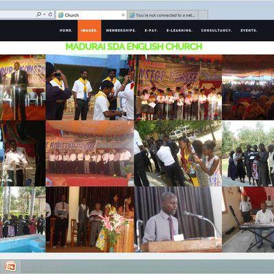 church dynamic website php/mysql project