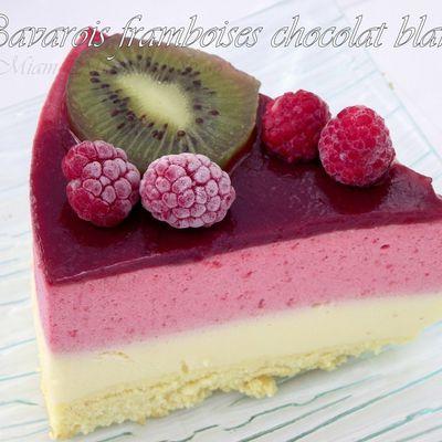 BAVAROIS CHOCOLAT BLANC & FRAMBOISES
