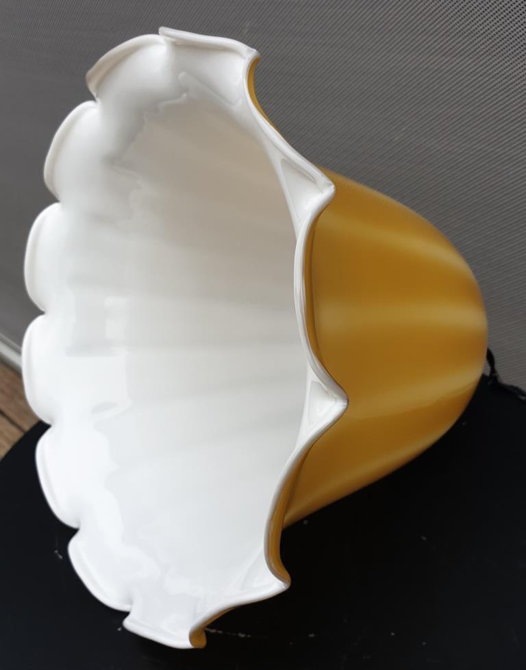 Suspension scandinave verre jaune digitalis grandiflora - 120 euros
