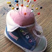 Handmade Harbour: How to Make a Pincushion from an Old Baby Shoe