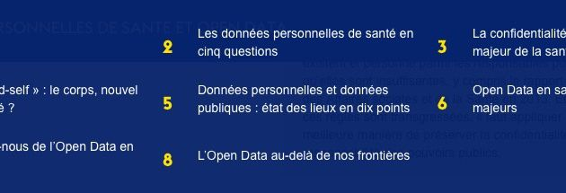 Données personnelles de santé et Open Data....