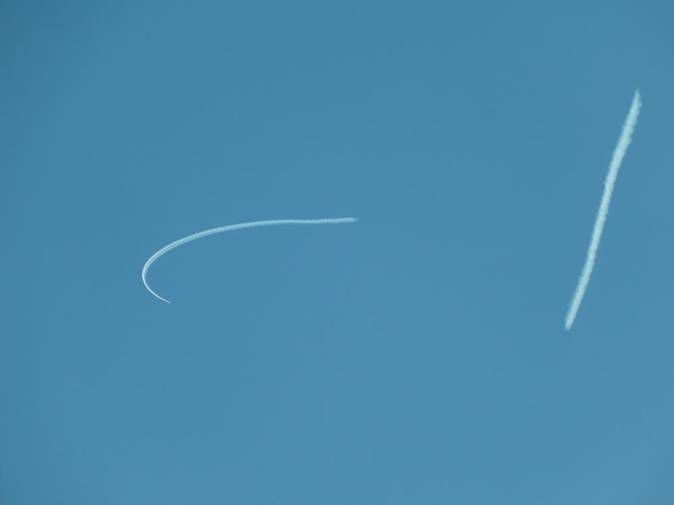 Skywriting  Lyon  dimanche 17 juillet 2016 vers 12h