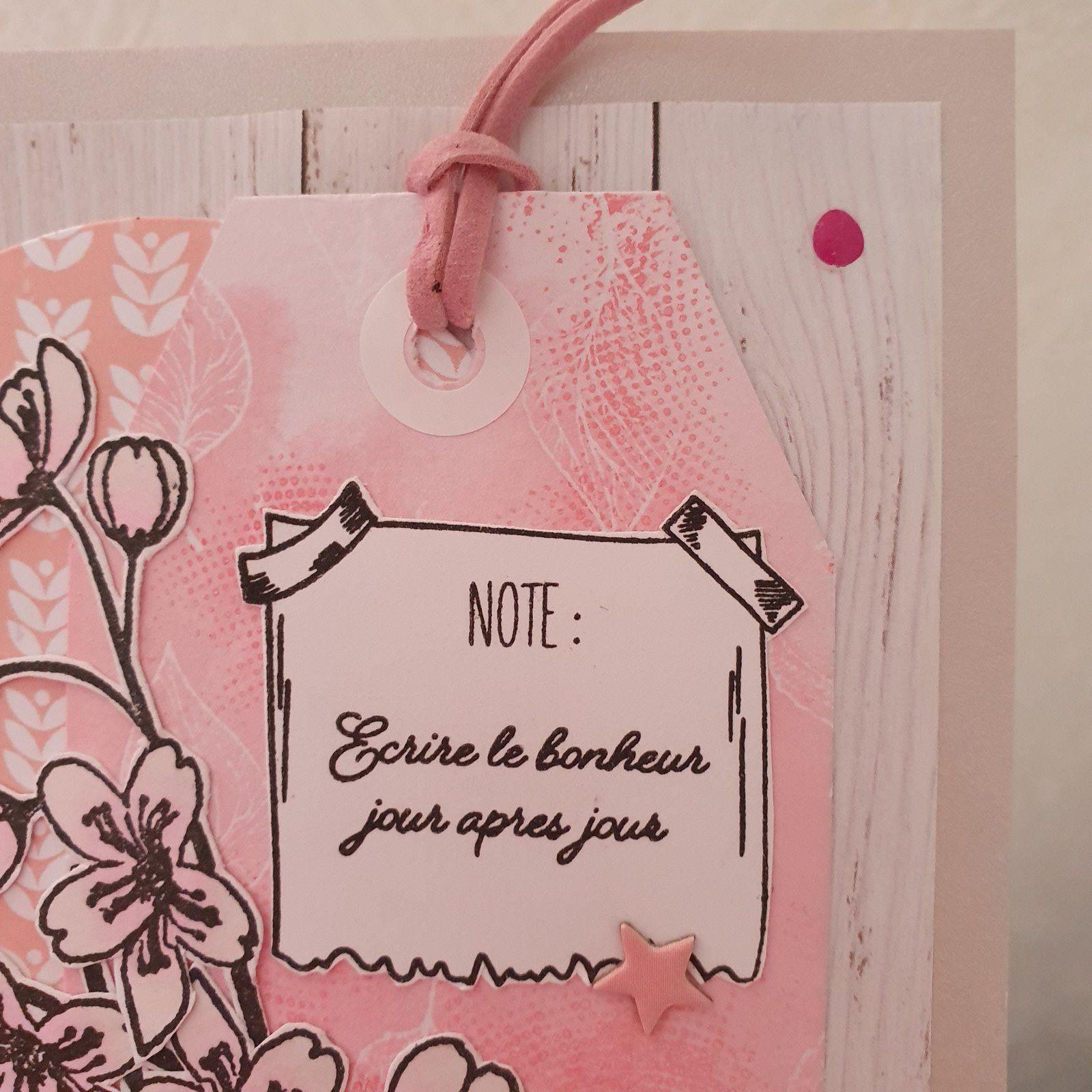 Carte Octobre rose