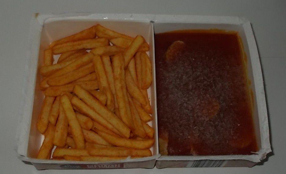 Aldi La Finesse Currywurst mit Pommes