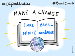 #DigitalLadies #Boostcamp the camp Aix - sketchnotes par Sandrine Delage