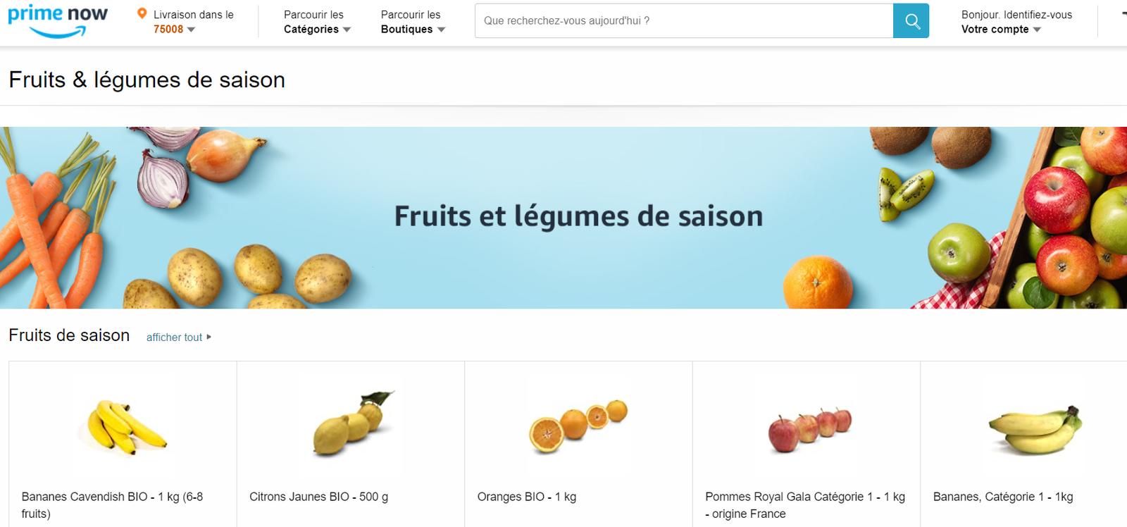 Amazon n'est vraiment plus à l'aise avec la vente en ligne de produits alimentaires. Une confirmation?