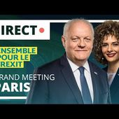 🔴 Direct à Paris : Dernier grand meeting de la liste Ensemble pour le Frexit de François Asselineau
