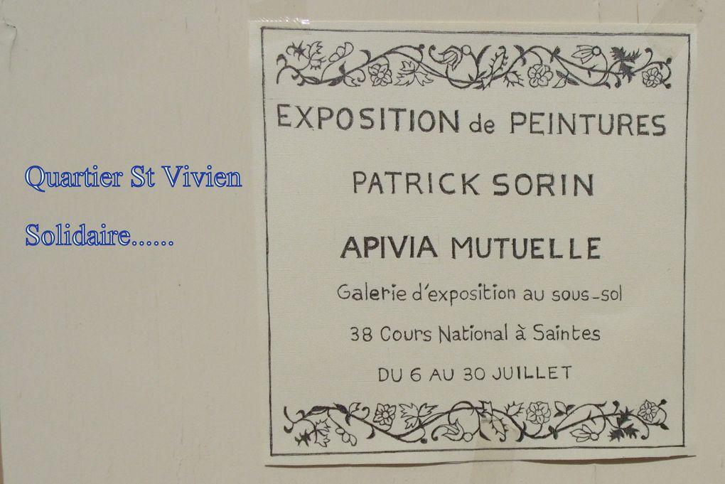 Sur le cours national à Saintes une mutuelle offre son sous-sol en galerie, aujourd'hui galerie ouverte pour Patrick Sorin du quartier St Vivien.