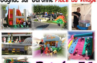 Parc d'attractions place du village le 4 octobre !!!