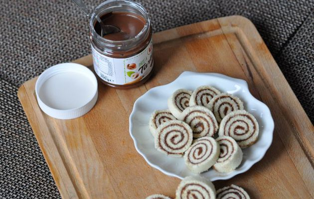 Petits roulés simplissimes à la pâte à tartiner