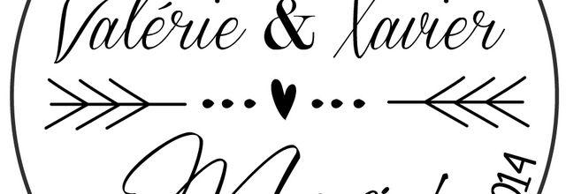 Un tampon pour le cadeau invité du mariage de Valérie & Xavier …