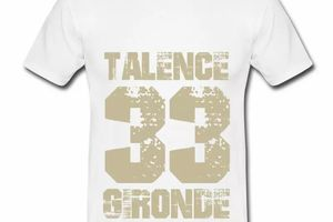 T shirt Aquitaine blanc homme Talence 33 Gironde