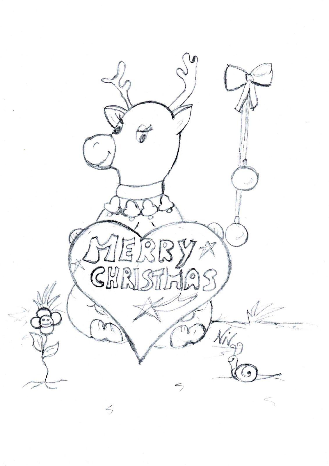 Scarica E Colora Il Disegno Della Renna Di Natale Oggi Mamma News