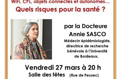 """Conférence """"Ondes quels risques pour la santé"""" 27 mars 2020 PUYMOYEN 17"""