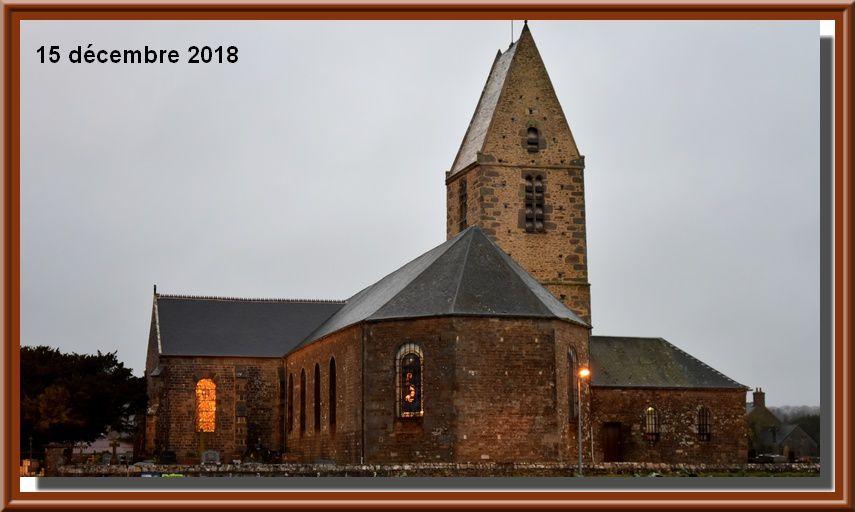 Valcanville, l'église en lumière