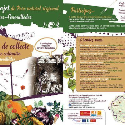 """Opération collecte """"mémoire culinaire"""" - Projet PNR Corbières-Fenouillèdes"""
