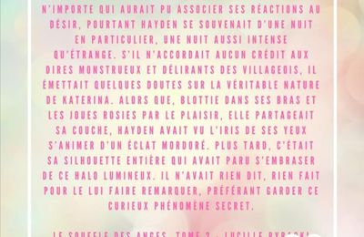 Extrait - Le souffle des anges tome 2 - Lucille Rybacki