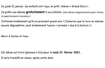 """Album """"Grand OURS"""""""