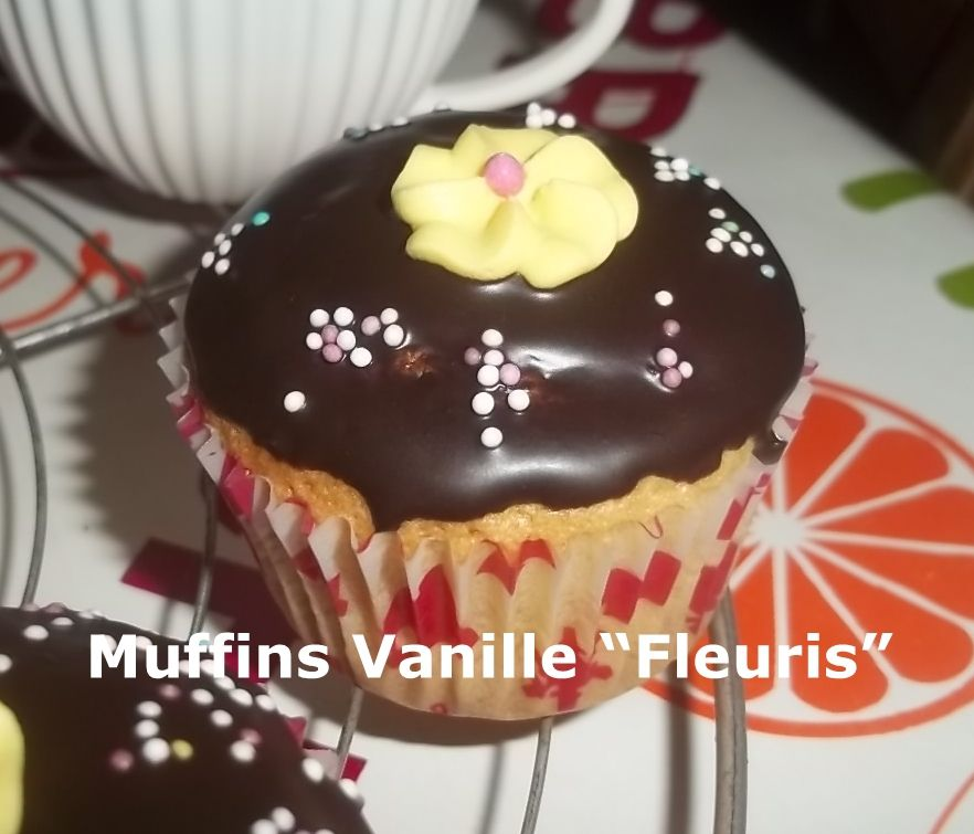 """Muffins Vanille """"Fleuris"""""""