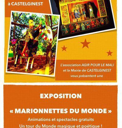CASTELGINEST : ASSOCIATION AGIR POUR LE MALI -  EXPOSITION MARIONNETTES DU MONDE