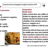Recettes cookeo :fausse marmite espagnole weight watchers |