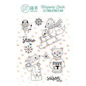 hplf2013-tampons-transparents-solstice-dhiver ha pi little fox FEE DU SCRAP