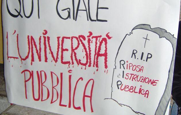 Lutter contre la privatisation de l'enseignement supérieur en Italie, par le secrétaire du syndicat des enseignants FLC-CGIL