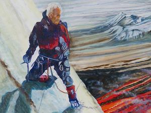 """Lava Hunter in  Kamchatka"" - Jocelyn Lardy - details - a click to open"
