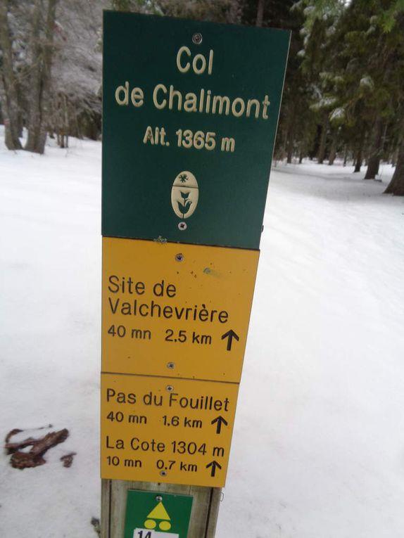 Notre neuvième Sortie raquettes neige : porte d' Herbouilly au site de valchevrière le 20 janvier 2018