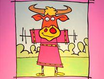 Petite princesse déguisée en vache