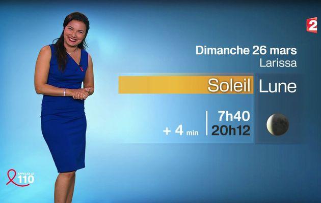 📸2 📺1 ANAIS BAYDEMIR pour LA METEO ce SOIR @France2tv #vuesalatele