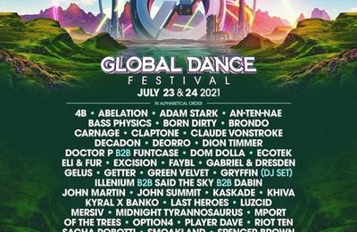 Tiësto date | Global Dance Festival | Denver, CO - july 24, 2021