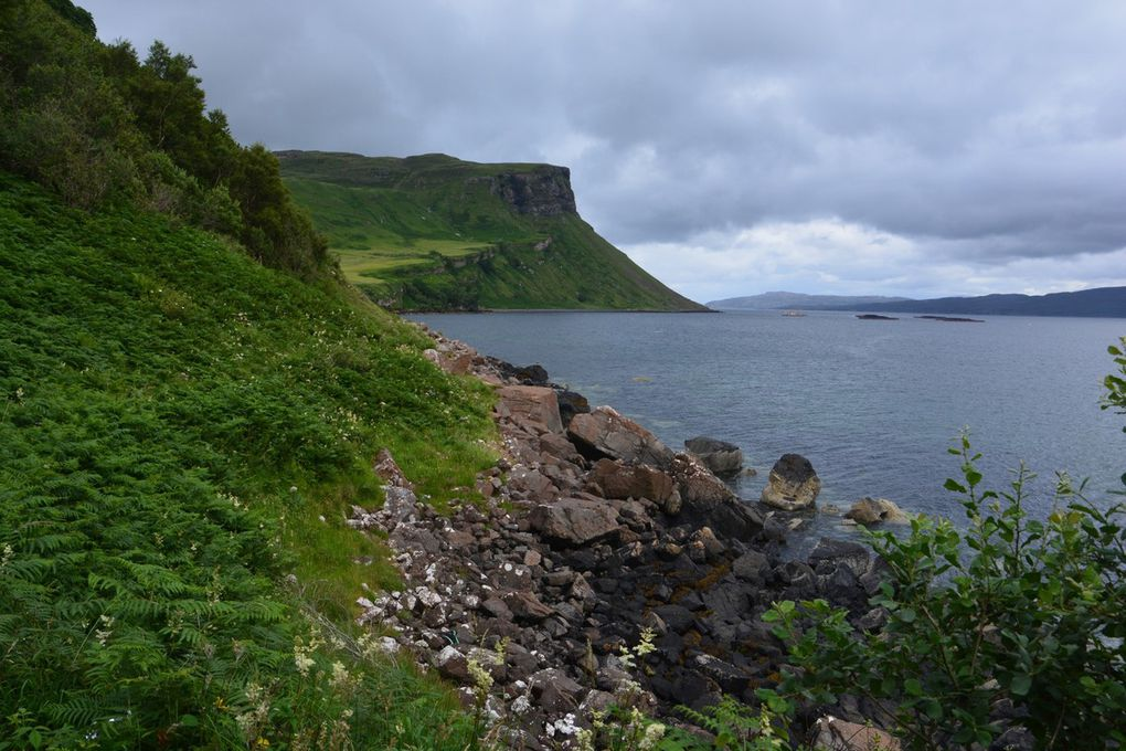 Balade autour de Portree, la promenade de l'aigle de mer et quelques vues de la péninsule.