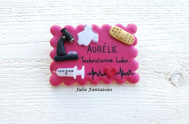 Badge technicienne de labo