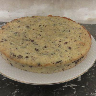 Gâteau coco-mascarpone et pépites de chocolat