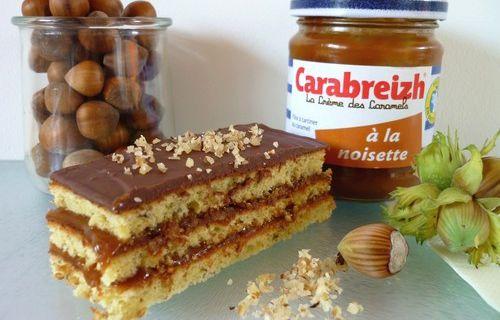 Gâteau Chocolat & Caramel à la Noisette