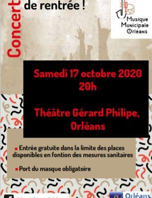 Concert gratuit de la Musique Municipale d'Orléans - Théâtre Gérard Philipe le 17 octobre 2020