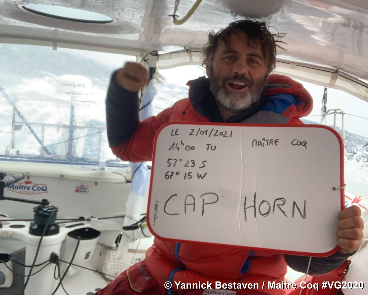 Yannick Bestaven has the first Time in the Big South - Charlie Charlie Dalin (Apivia) became the second Vendée Globe skipper to round Cape Horn at 0439hrs early this Sunday morning,