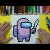 Como dibujar AMONG US 🔥💥 paso a paso 5 - AMONG US | How to draw AMONG US 🔥 5 - AMONG US