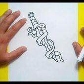 Como dibujar una daga paso a paso 2   How to draw a dagger 2